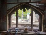 Busy day making alterations to a stone window North Wales, North West, Wirral, Liverpool & Cheshire UK