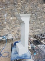 Replacement stone capital ready for fitting today in Liverpool. North Wales, North West, Wirral, Liverpool & Cheshire UK