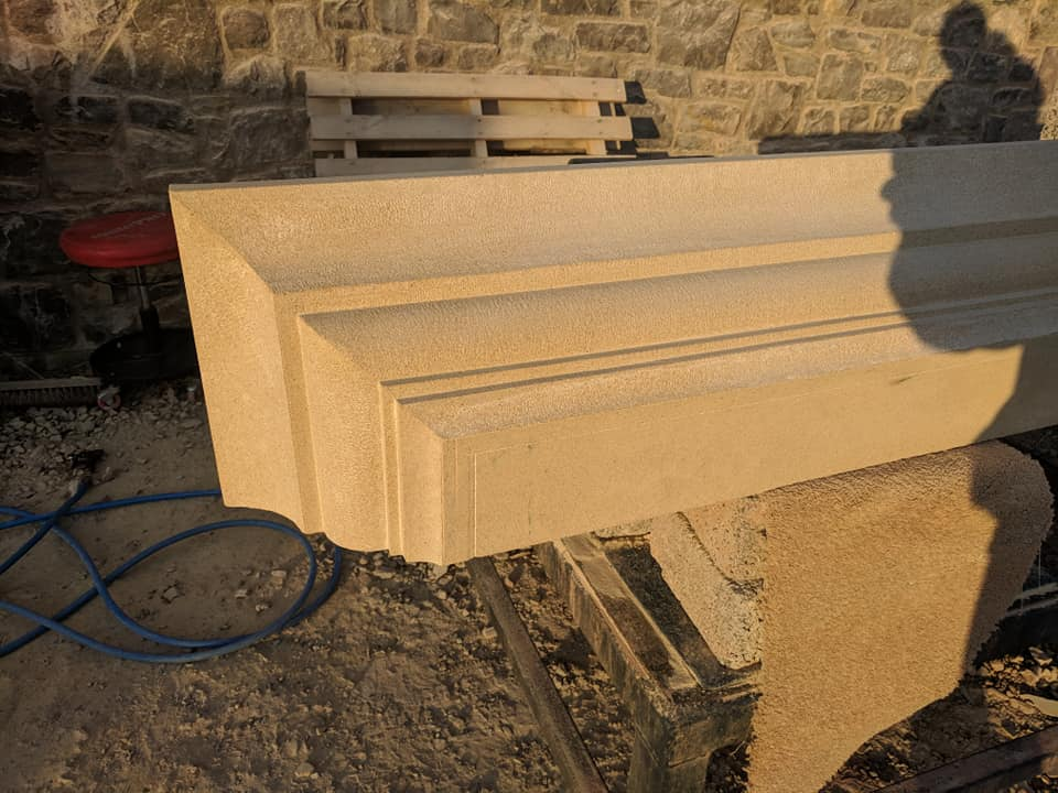 Ready for the finishing touches on this mantle section tomorrow ready for installing next week in north wales this fireplace will look fantastic in the large room. North Wales, North West, Wirral, Liverpool & Cheshire UK