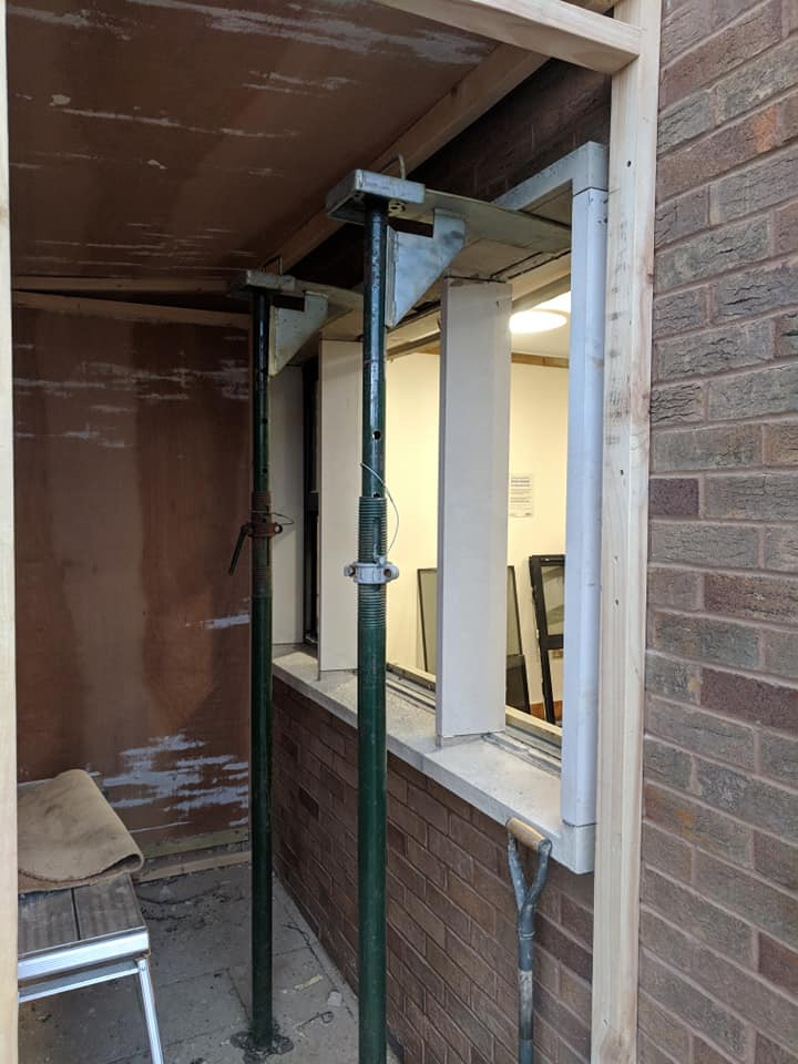 Working on site today making repairs to a window after the Portland stone has failed. North Wales, North West, Wirral, Liverpool & Cheshire UK