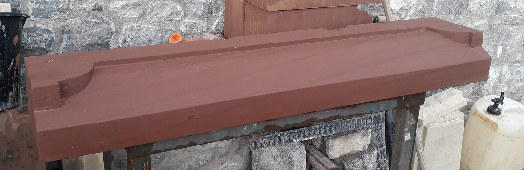 A lovely Cheshire red sandstone window cill ready for delivery tomorrow. North Wales, North West, Wirral, Liverpool & Cheshire UK