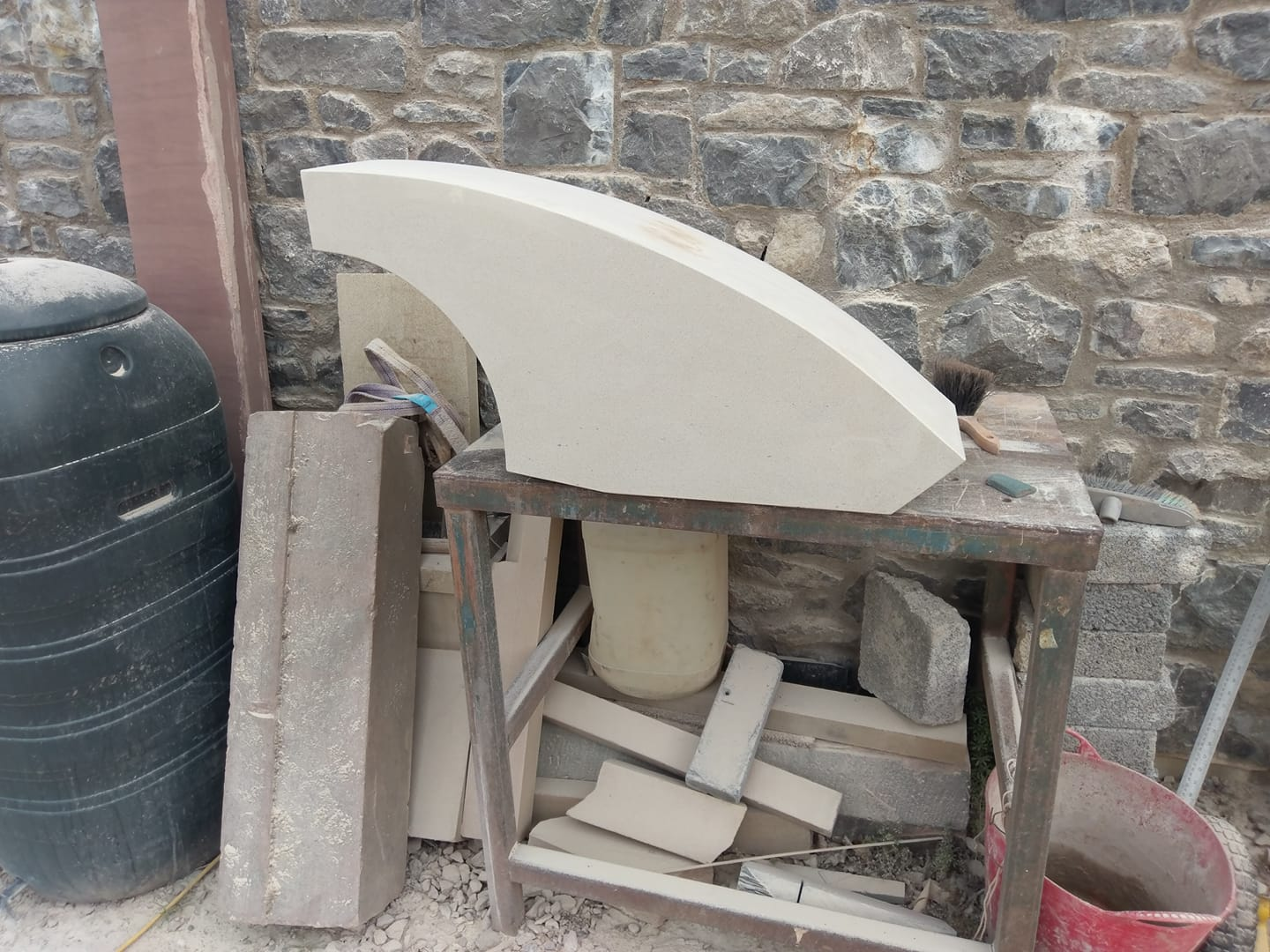 One of eight sand stone sections ready for delivery in wigan. North Wales, North West, Wirral, Liverpool & Cheshire UK