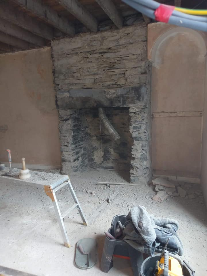 Finished our lime mortar surround for a house renovation in north Wales. North Wales, North West, Wirral, Liverpool & Cheshire UK