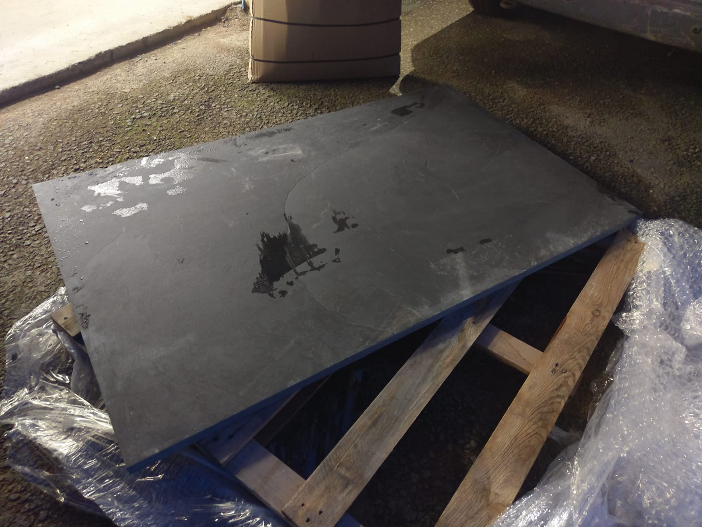 One of our slate hearths we can now supply to our customers throughout the UK. North Wales, North West, Wirral, Liverpool & Cheshire UK