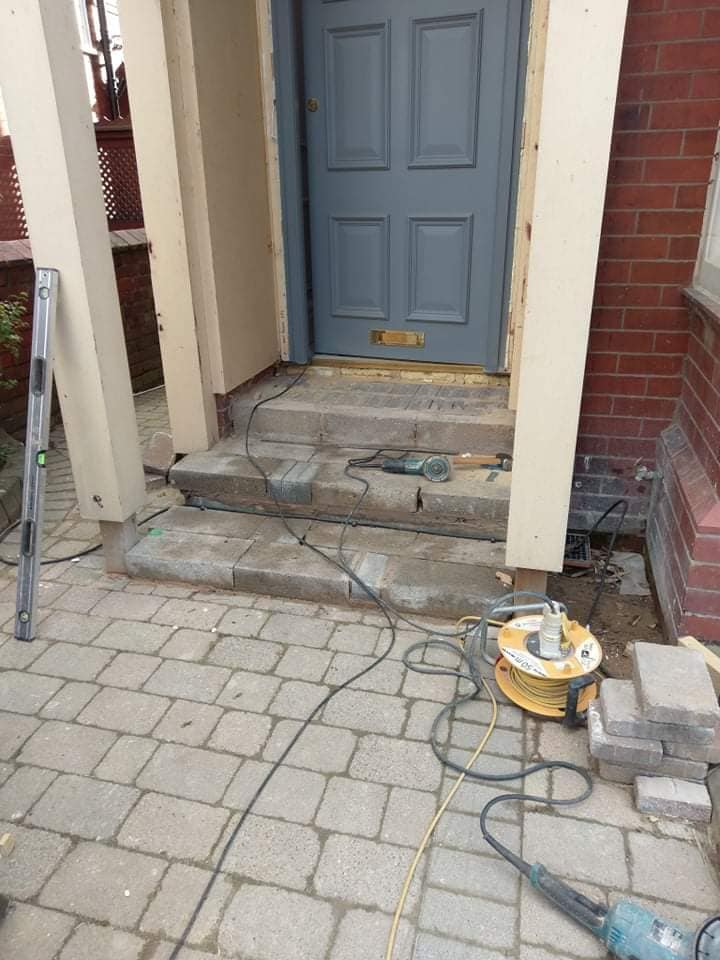 Fantasic job finished today in Blackpool fitting a lovely set of sandstone steps and risers. North Wales, North West, Wirral, Liverpool & Cheshire UK