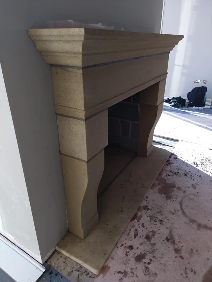Another surround finished and installed today for a client in Chester. This surround was all the customers design with the request for a rough and old finish feeling to it. North Wales, North West, Wirral, Liverpool & Cheshire UK