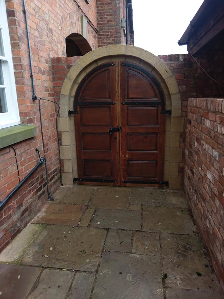 One last visit to a client today to fix some small snags on our sandstone archway in Chester. North Wales, North West, Wirral, Liverpool & Cheshire UK