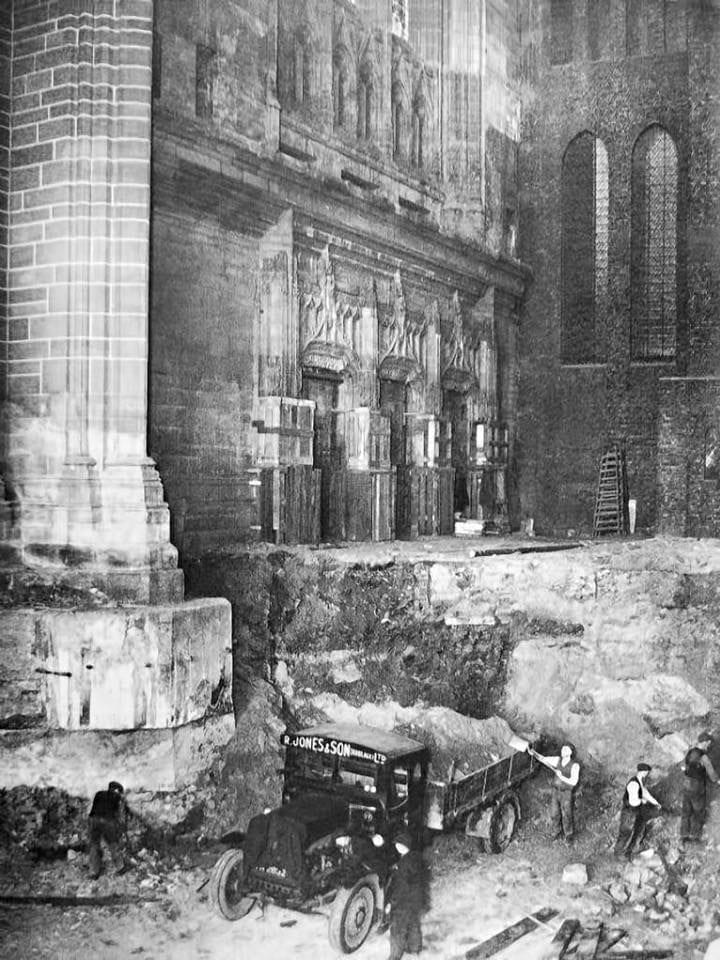 Fantastic photo of the Liverpool cathedral undergoing repairs. North Wales, North West, Wirral, Liverpool & Cheshire UK