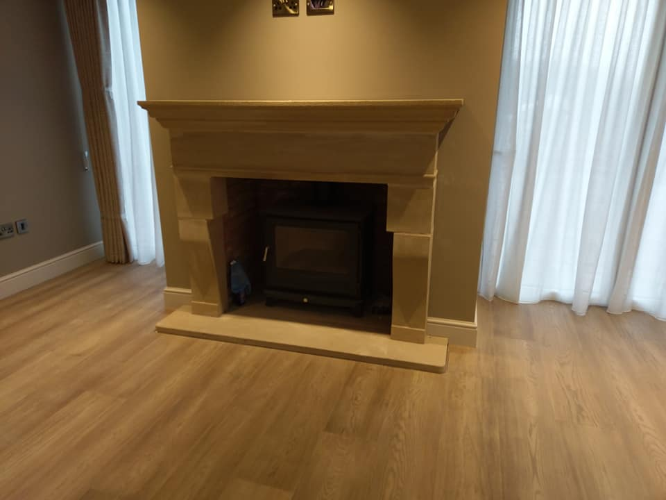 A customers own design for a fire surround we supplied in Cheshire. North Wales, North West, Wirral, Liverpool & Cheshire UK