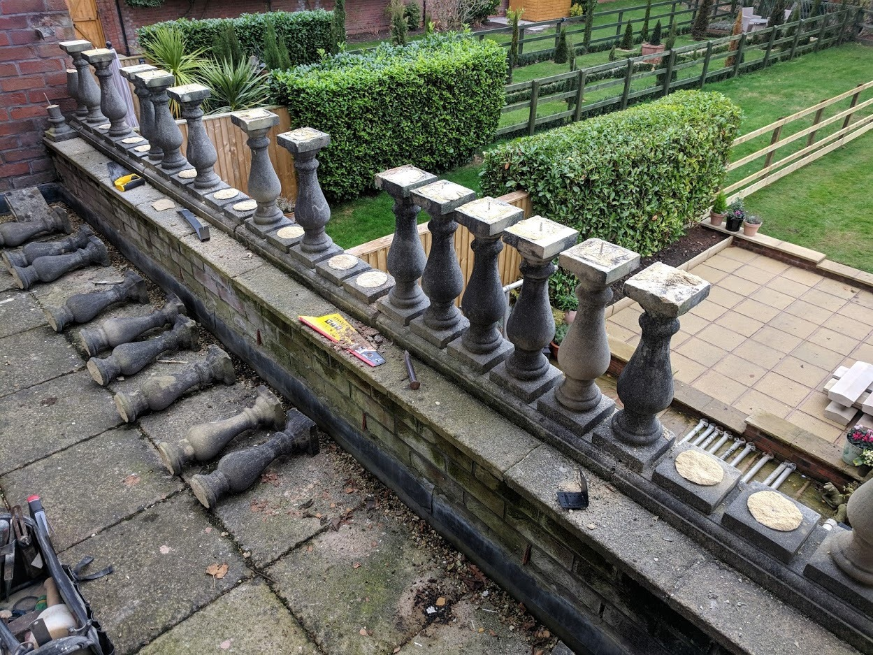 A repair and replacement work carried out on a balcony in Chester after years of damage. North Wales, North West, Wirral, Liverpool & Cheshire UK