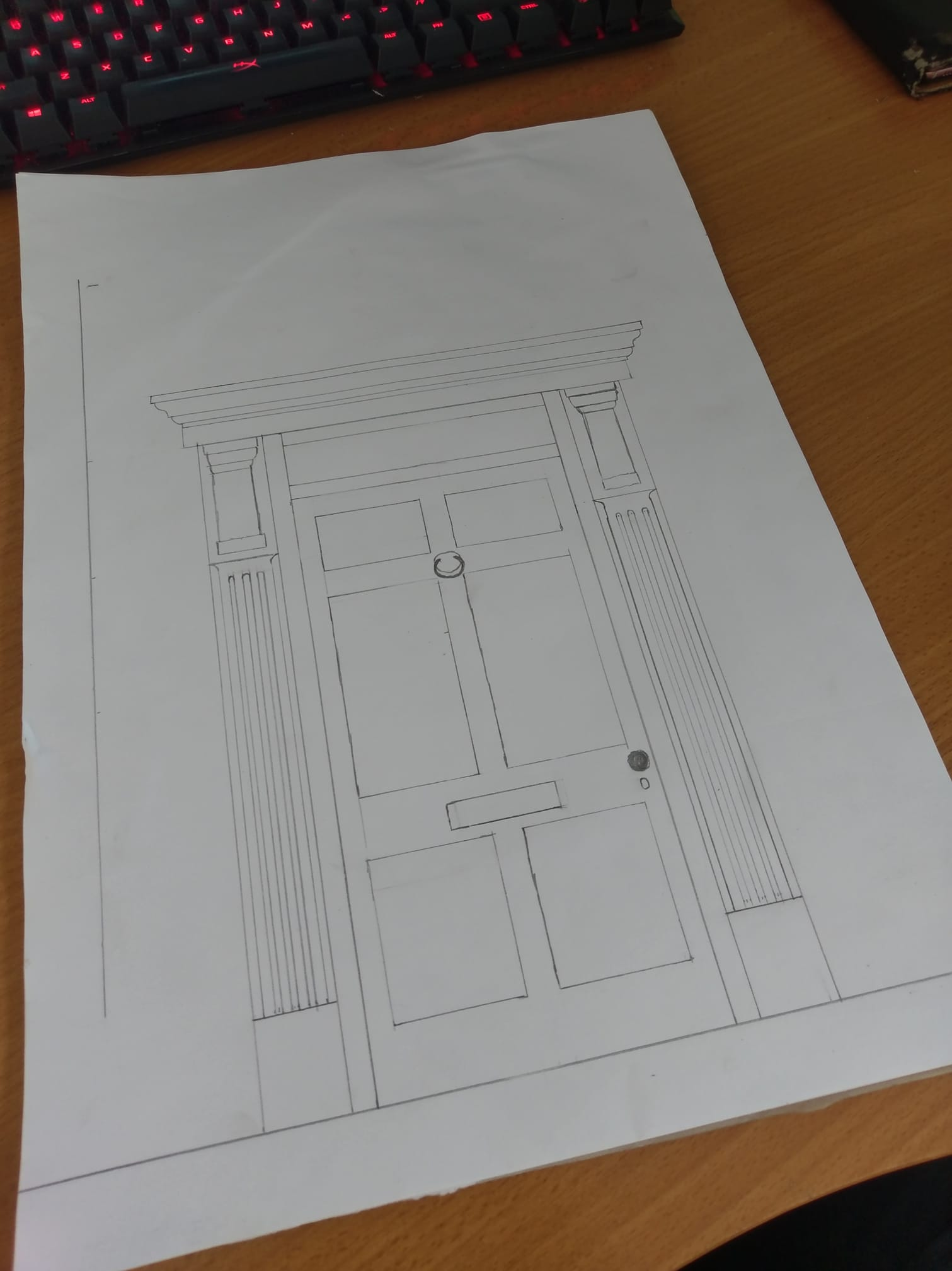 Contacted by a client in knutsford who wanted to have a door surround made for their house. North Wales, North West, Wirral, Liverpool & Cheshire UK