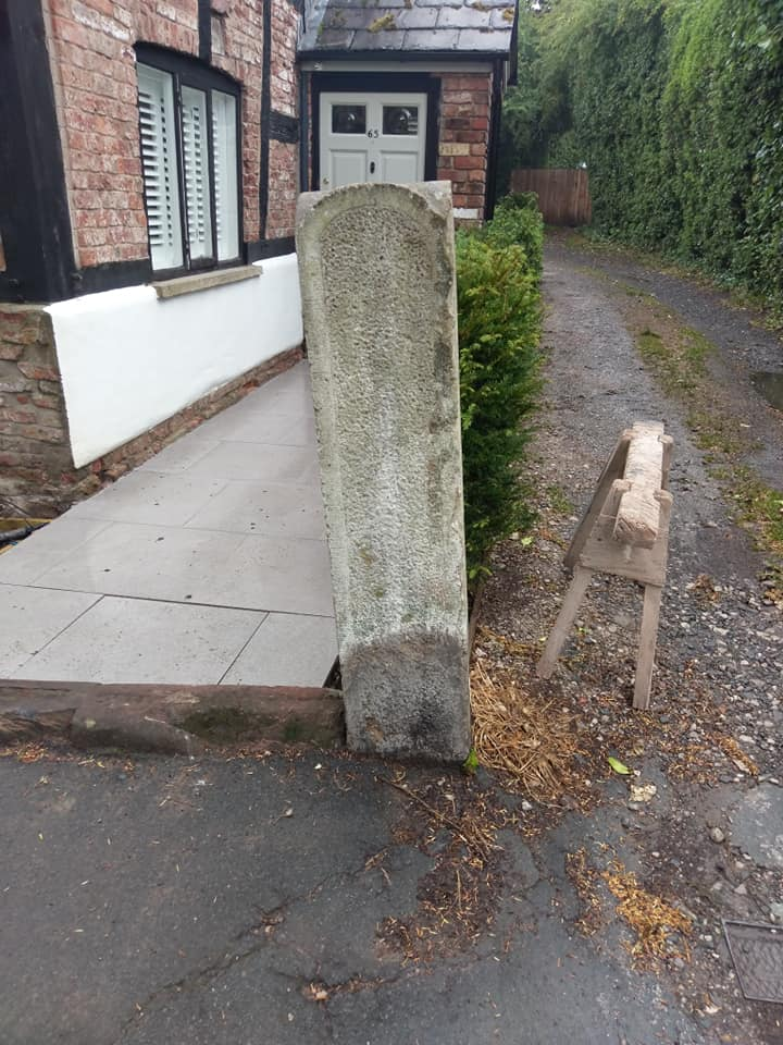 A busy day in Cheshire today making safe a sandstone gate post on a grade 1 listed property. North Wales, North West, Wirral, Liverpool & Cheshire UK