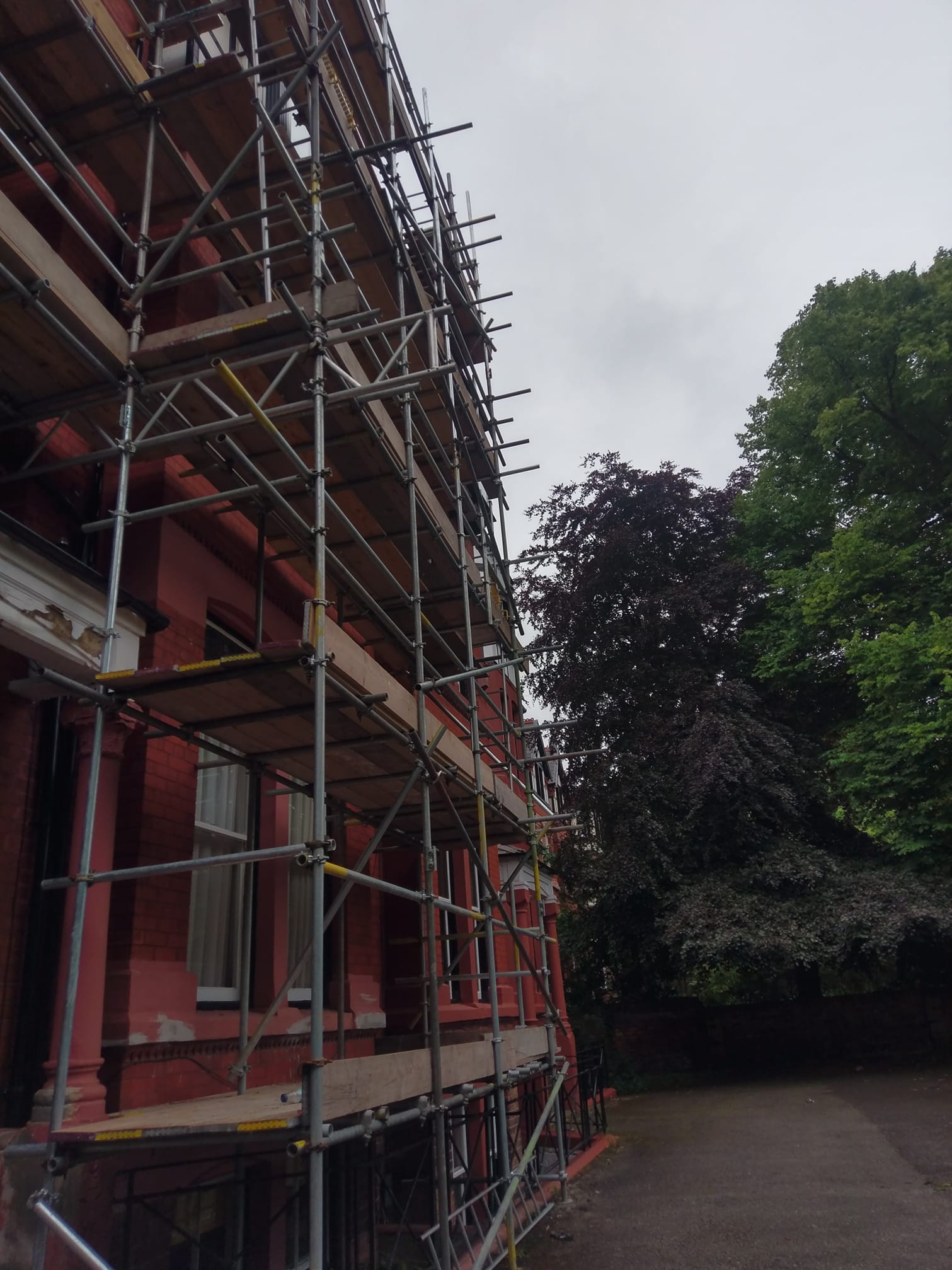 Busy day in Liverpool making repairs to damaged stone work with years of poor repairs and damage from fixings being placed in the stone work. North Wales, North West, Wirral, Liverpool & Cheshire UK